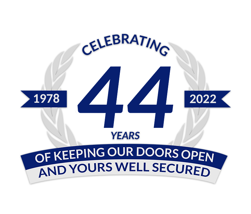Celebrating 40 years of keeping our doors open and yours well secured